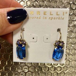 Sorrelli Brilliant Blue Crystal French Wire Earrin